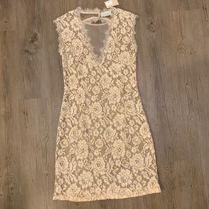 NEW Dress Forum tan lace dress